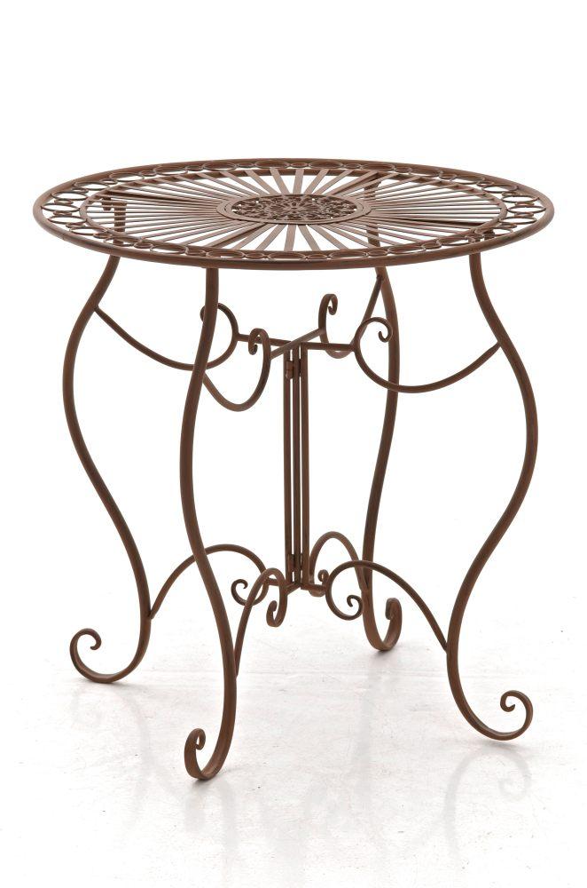 Table ronde de jardin INDRA fer forgé diamètre 70 cm table pour usage extérieur