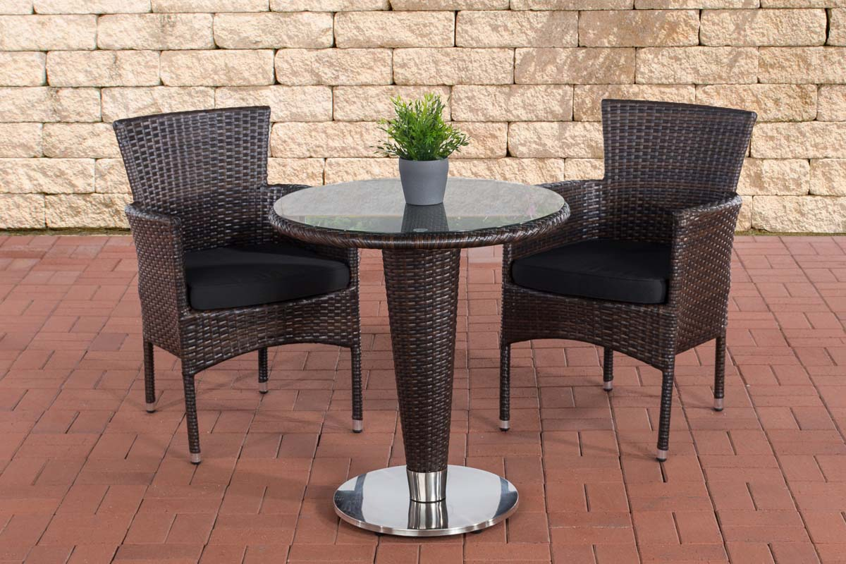 sitzgruppe inez gartengarnitur polyrattan aluminium gartenm bel set 2 personen ebay. Black Bedroom Furniture Sets. Home Design Ideas