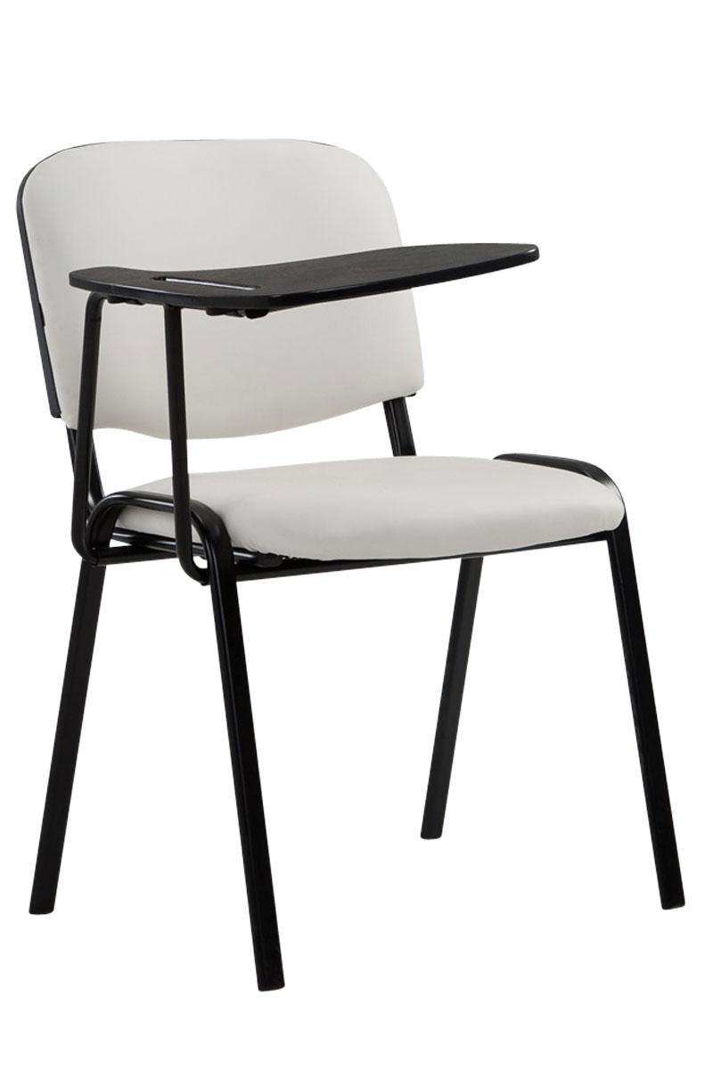 stuhl ken mit klapptisch kunstleder besucherstuhl mit schreibplatte tablarstuhl ebay. Black Bedroom Furniture Sets. Home Design Ideas