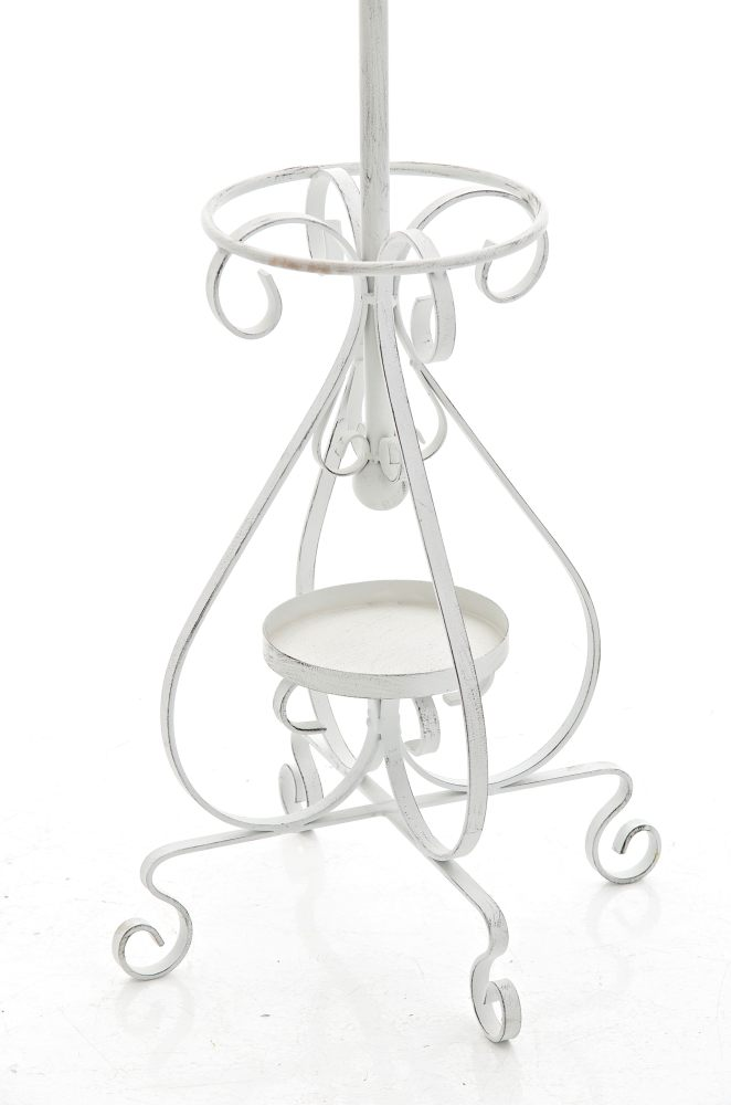 Kleiderständer Weiß Metall garderobenständer lilly antik weiss metall kleiderständer garderobe
