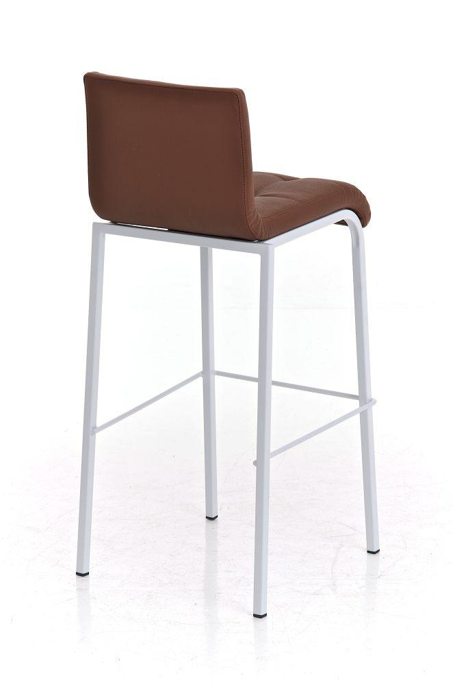 Tabouret de Bar AVOLA W78 Similicuir Lisse Chaise Haute de Bar avec Repose-pied