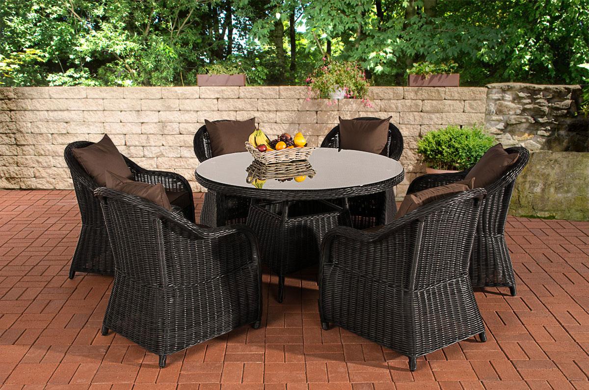 stavanger sitzgruppe farbwahl schwarz polyrattan gartenm bel garnitur tisch neu ebay. Black Bedroom Furniture Sets. Home Design Ideas