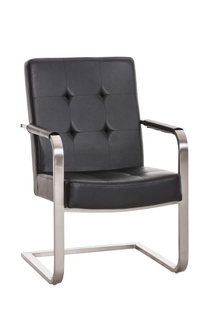 Besucherstuhl Quentin Praxis Wartezimmer Stuhl schwarz