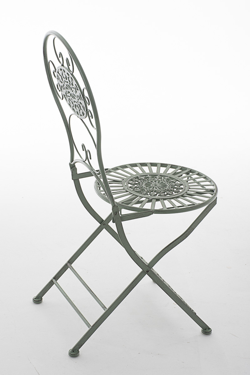 Chaise de jardin pliante mani en fer forg pour usage - Chaise en fer forge pour jardin ...