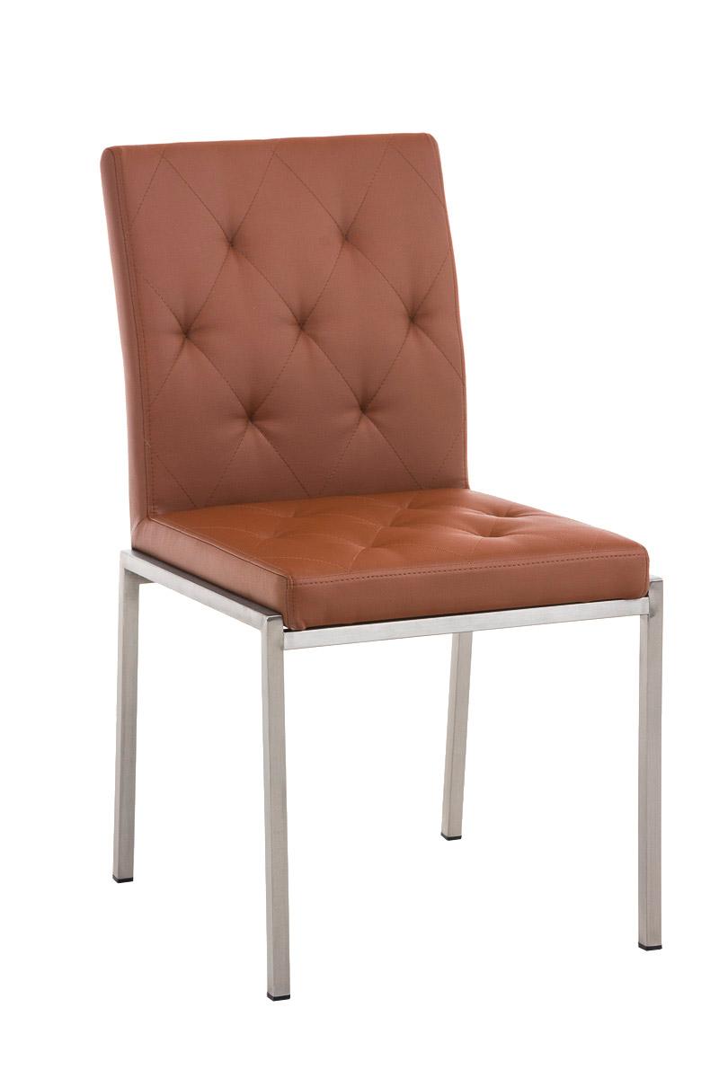 Besucherstuhl Charly Praxis Wartezimmer Stuhl hellbraun