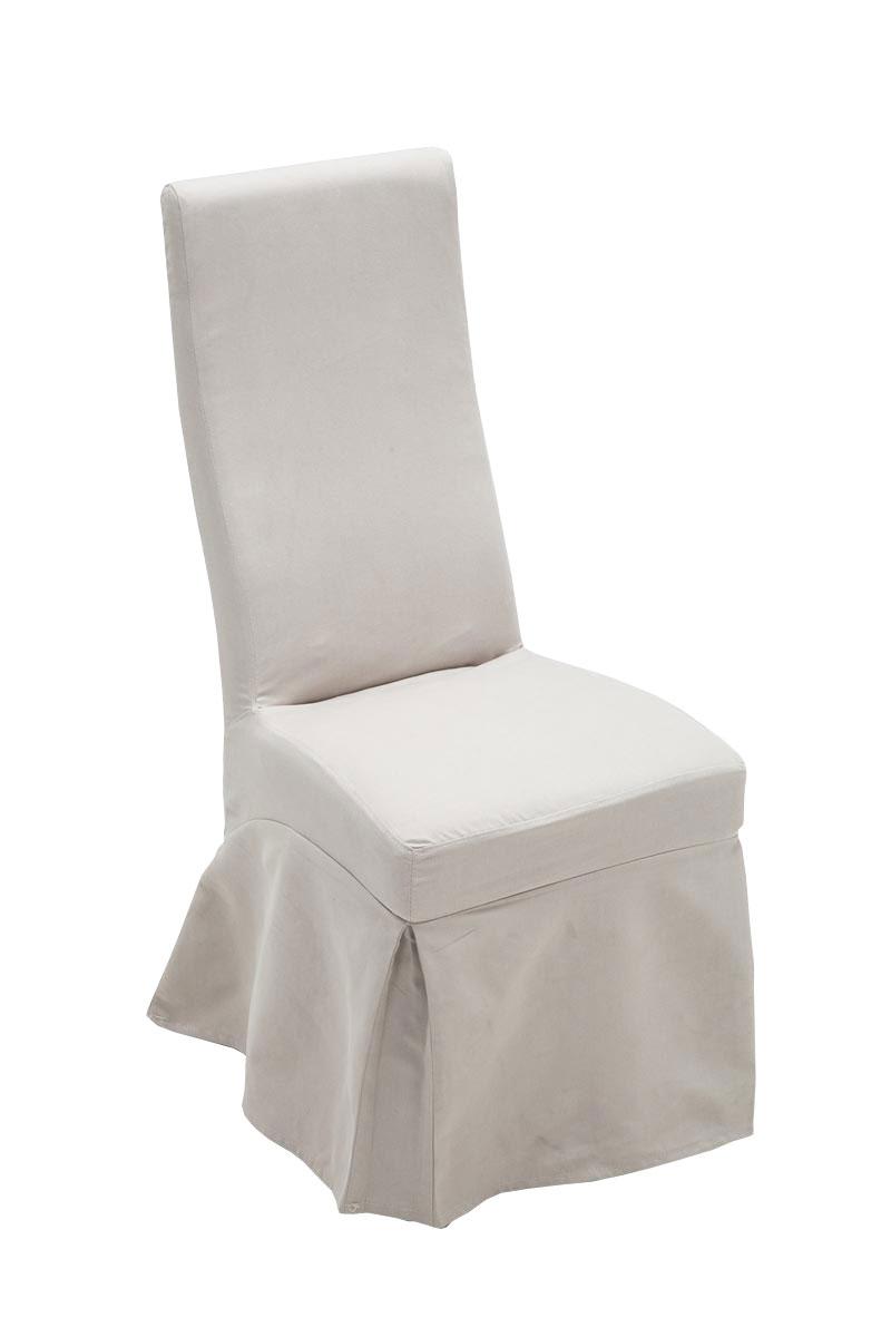 Chaise salle à manger BORKUM housse tissu lacage dos lavable bois ...