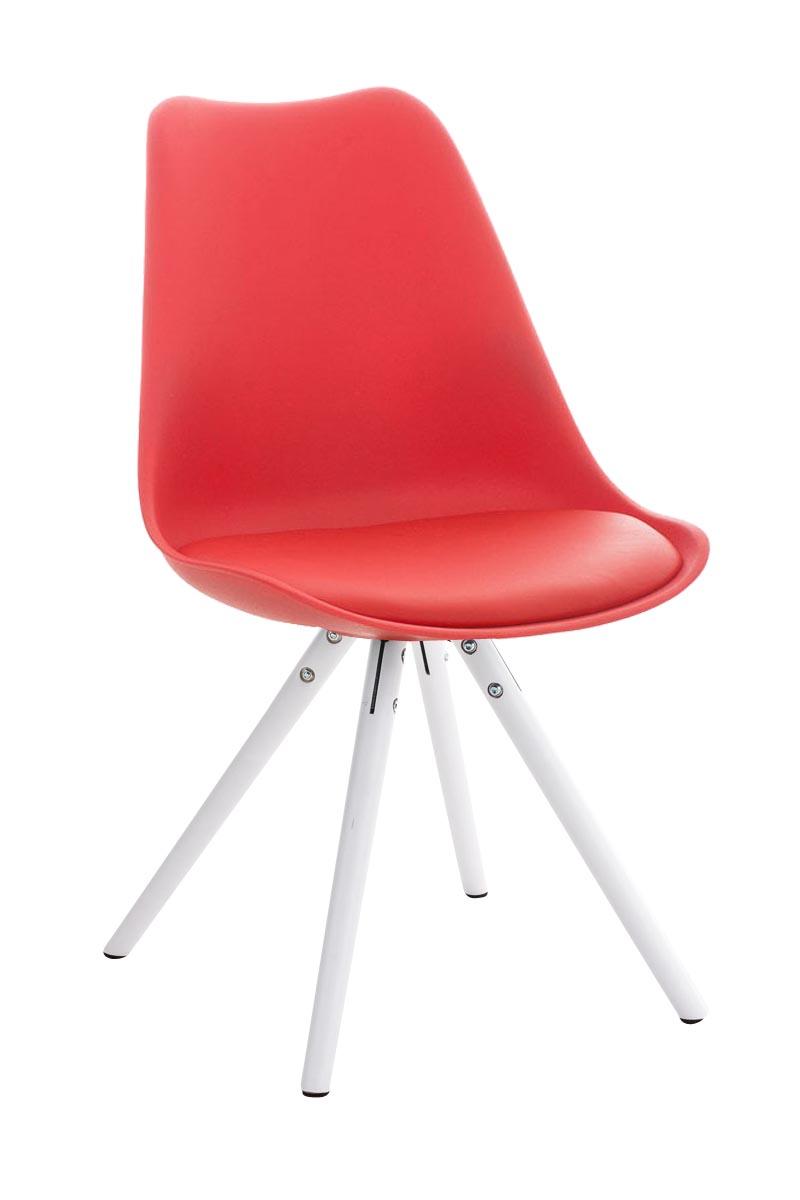 Stuhl Pegleg Rund weiß Esszimmer Stuhl rot  eBay