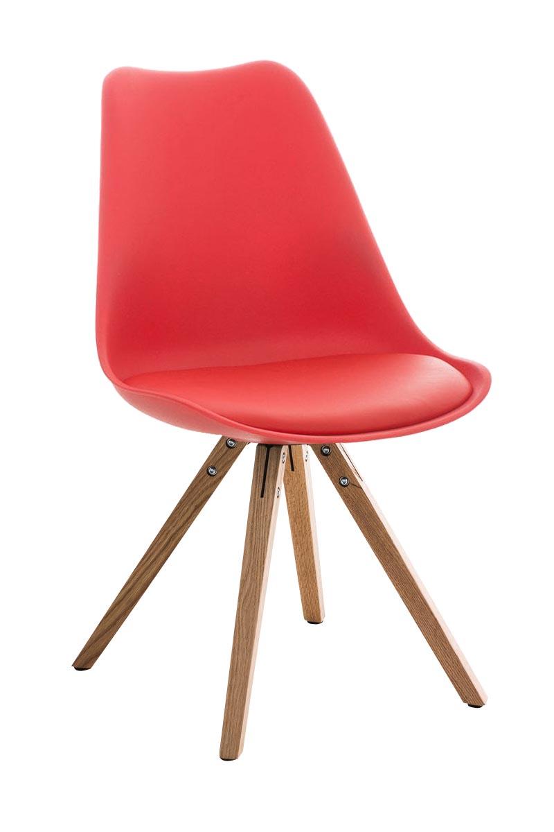 Stuhl Pegleg Square natura Esszimmer Stuhl rot | eBay