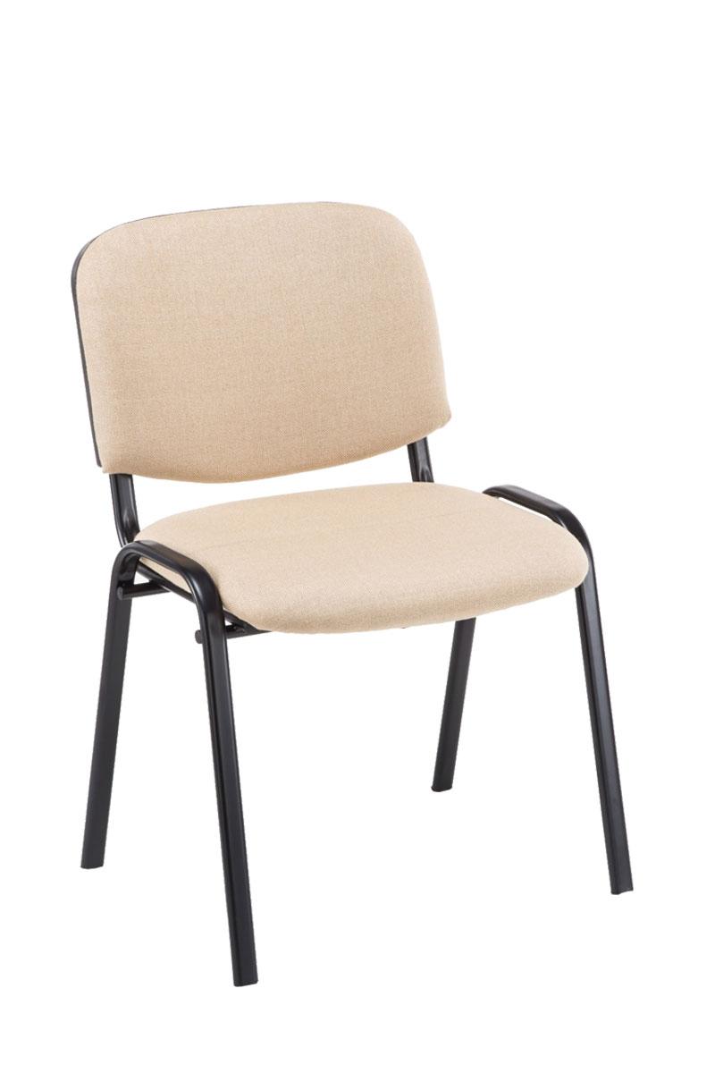 Besucherstuhl Ken Stoff Wartezimmer Stuhl Creme Ebay