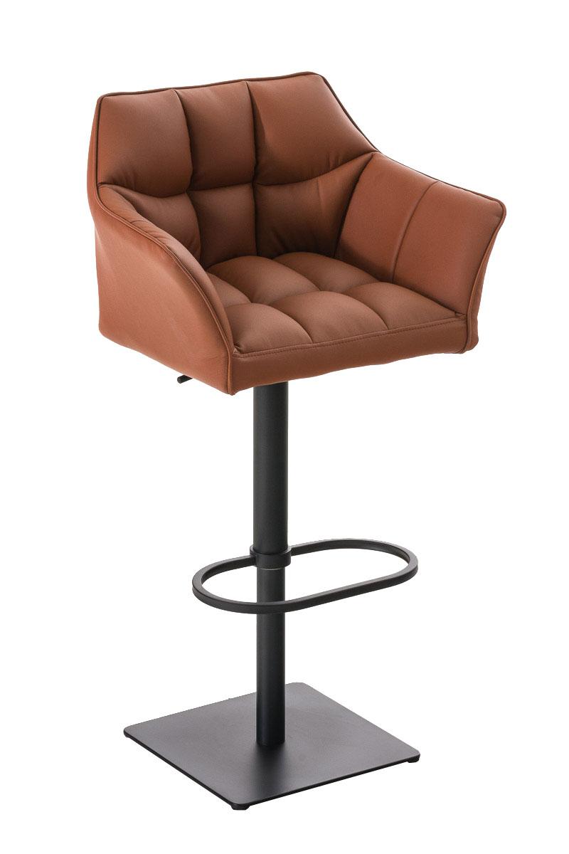 barhocker damaso mit lehne barstuhl thekenhocker kunstleder h henverstellbar ebay. Black Bedroom Furniture Sets. Home Design Ideas