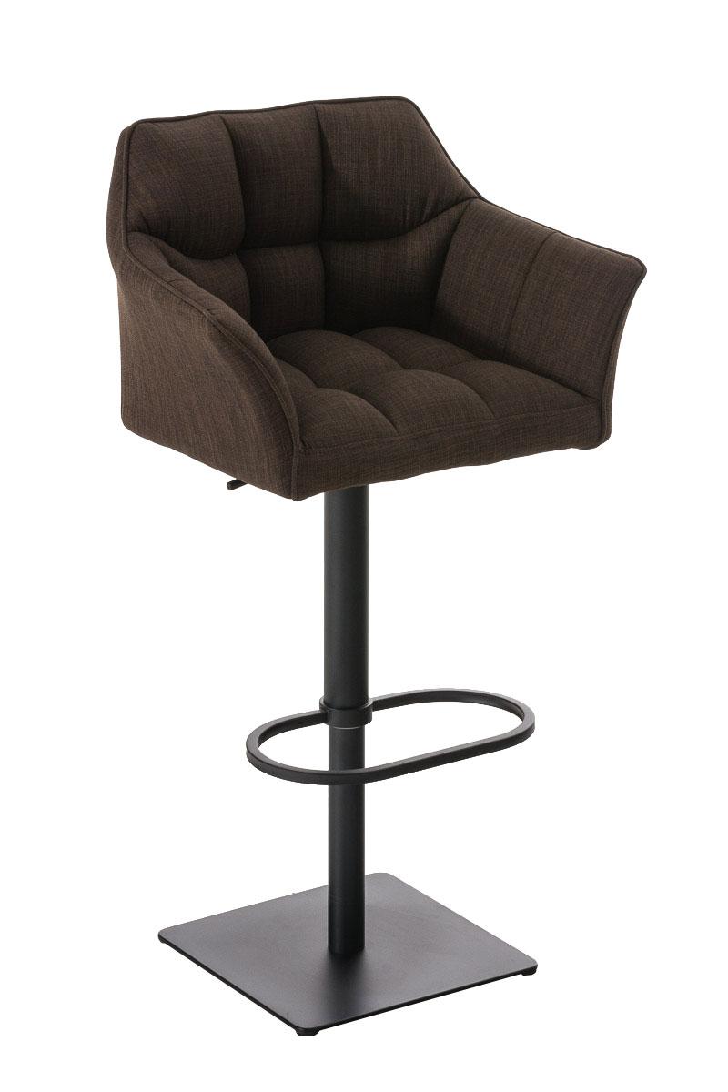 barhocker damaso stoff barstuhl thekenhocker h henverstellbar mit lehne ebay. Black Bedroom Furniture Sets. Home Design Ideas