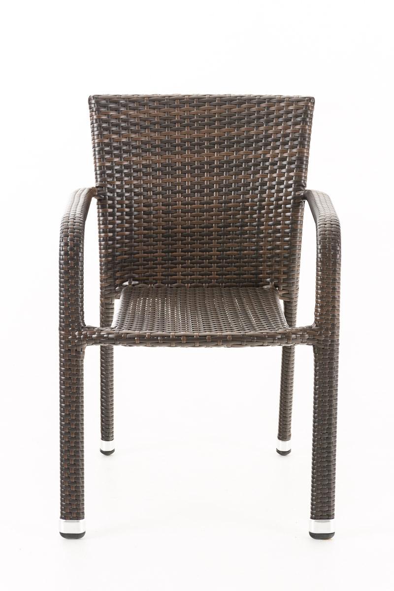 hh40778 2x polyrattan stuhl leonie braun lehnstuhl gartenstuhl b ware ebay. Black Bedroom Furniture Sets. Home Design Ideas