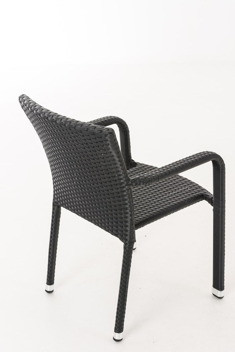 HBM Polyrattan Stuhl Leonie schwarz Stapelstuhl