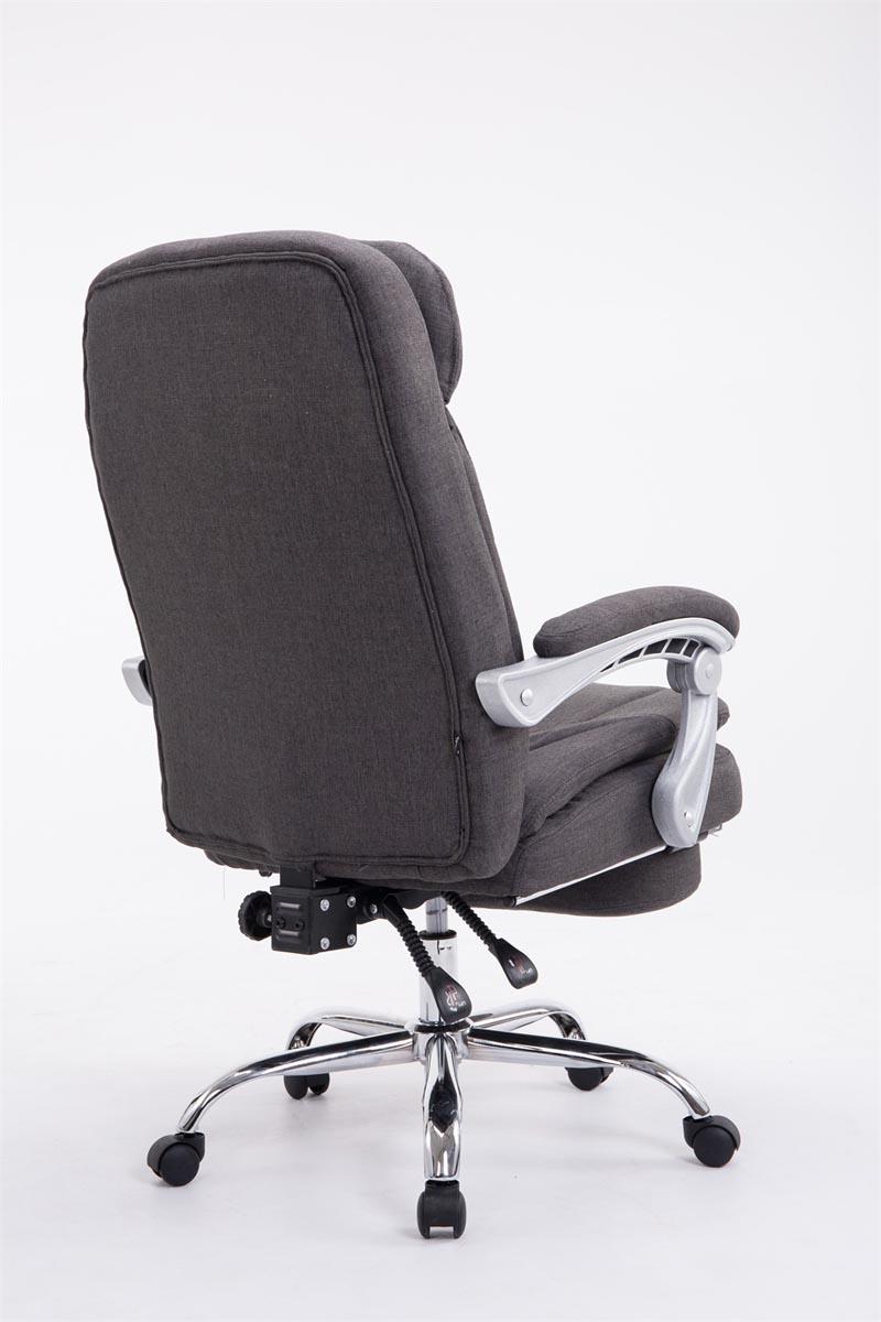 Poltrona ufficio ergonomica troy tessuto poggiapiedi for Poltrona ufficio con poggiapiedi