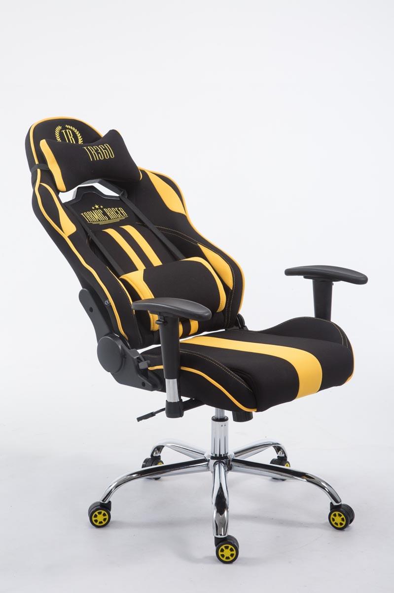 Chaise bureau racing limit tissu repose jambes accoudoir - Chaise de bureau racing ...
