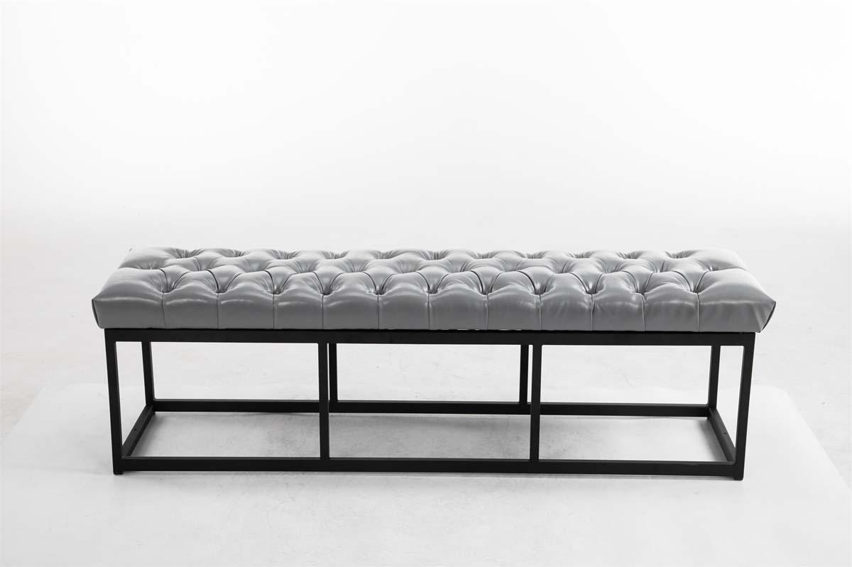 Sitzbank Amun Kunstleder B150 Esszimmer Stuhl Grau Ebay