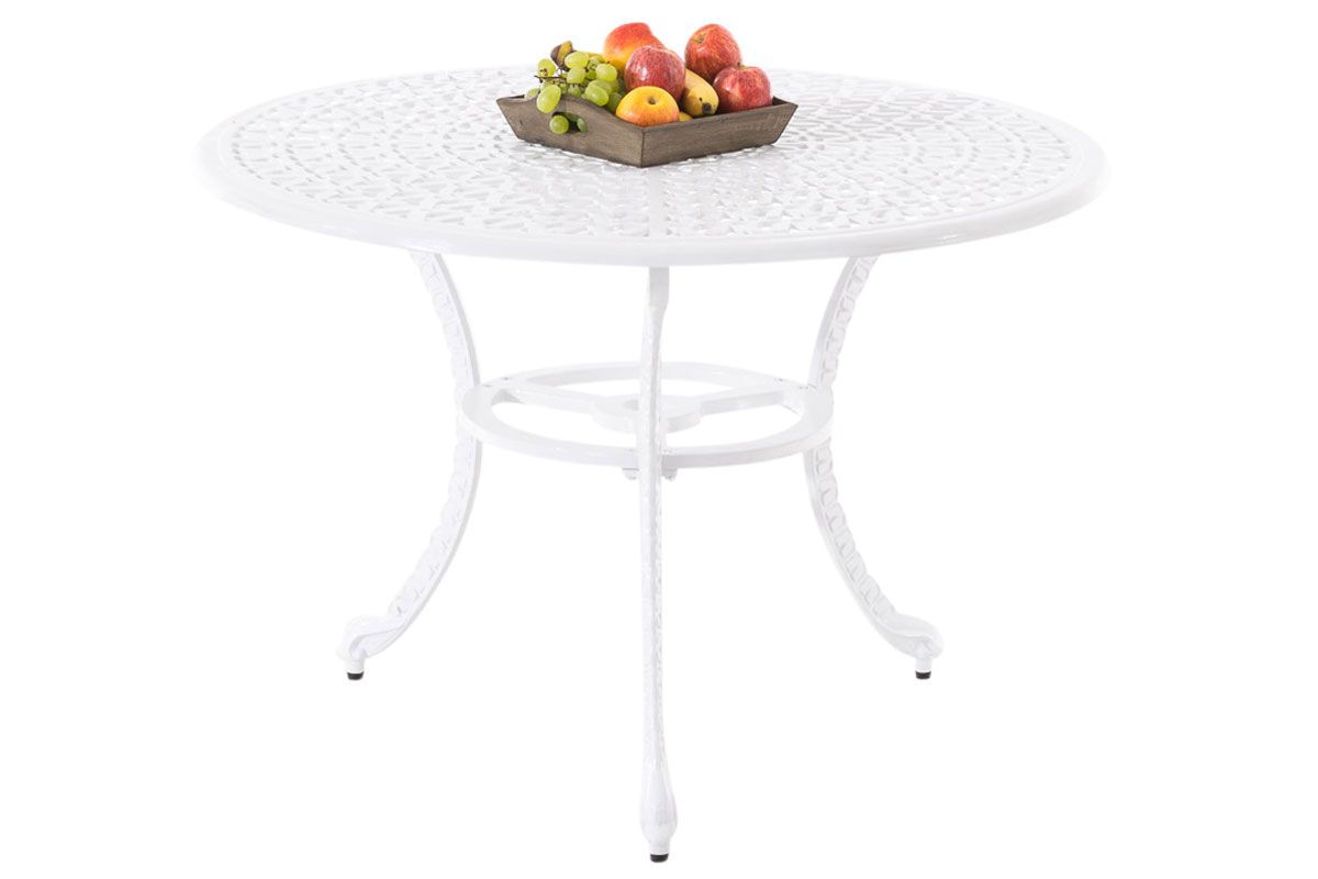 Table de jardin NARAYANA en fonte d\'aluminium table de terrasse ...