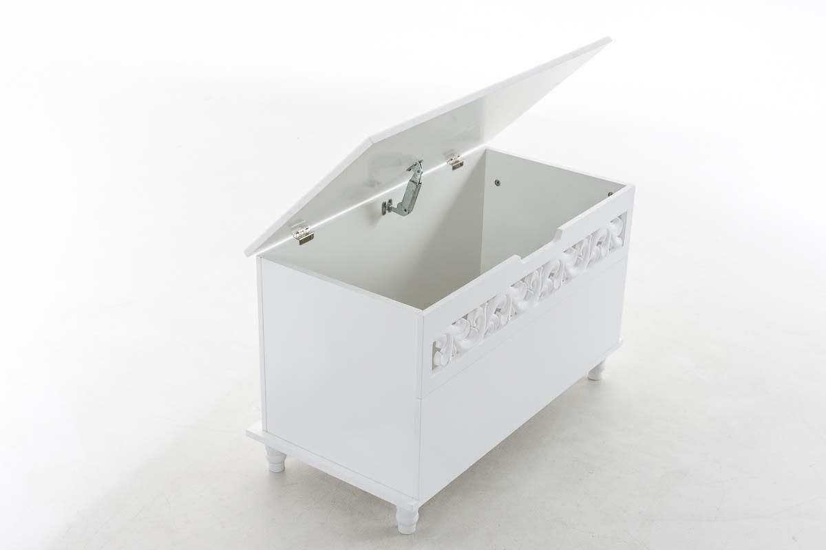 la35533 holztruhe millie wei sitzbank landhaus. Black Bedroom Furniture Sets. Home Design Ideas