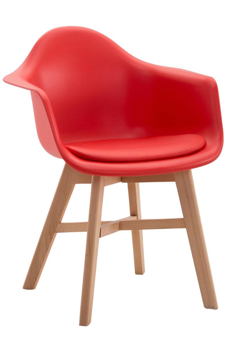 Besucherstuhl-Calgary-Kunstleder-Natura-Praxis-Wartezimmer-Stuhl-rot