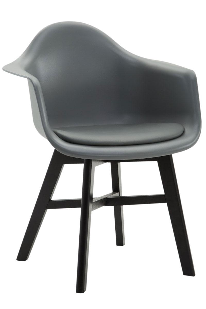 Besucherstuhl-Calgary-Kunstleder-Schwarz-Praxis-Wartezimmer-Stuhl-grau