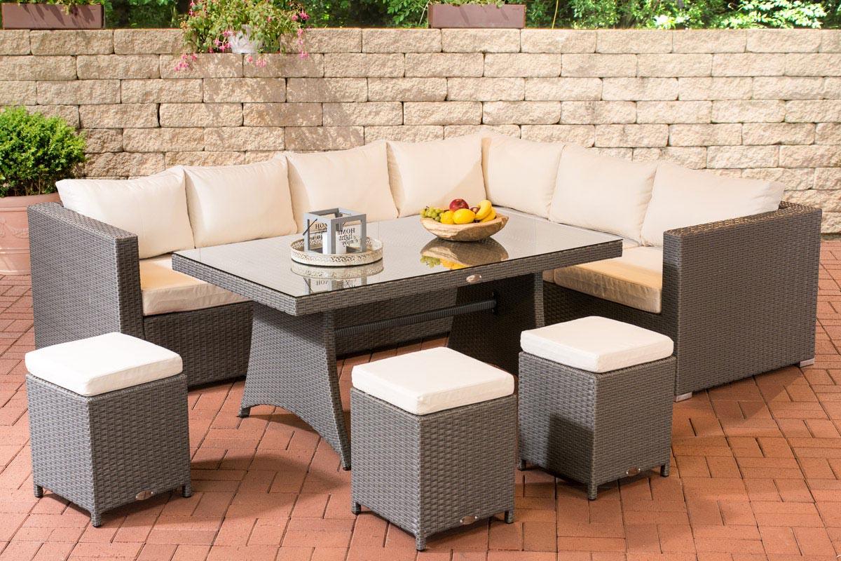 Sitzgruppe Siena Gartengarnitur Gartenmoebel  Loungeset Garnitur Sitzgarnitur Set