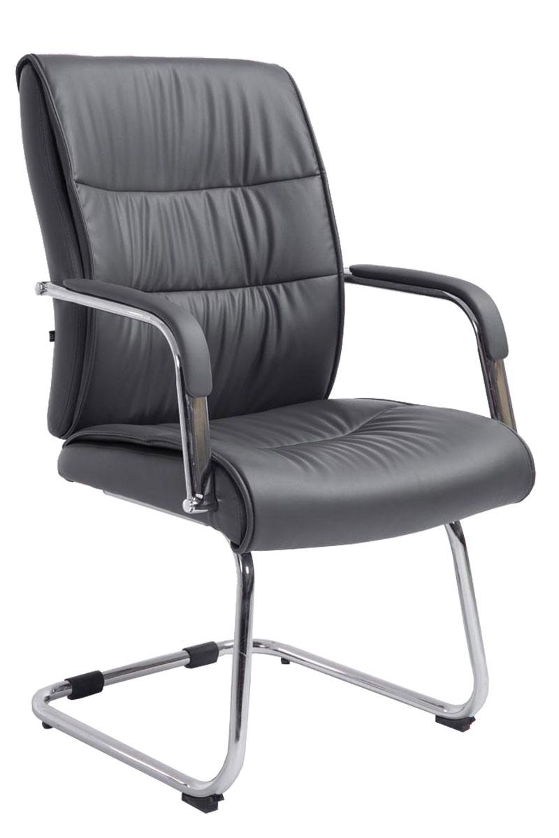 chaise visiteur sievert luge similicuir m tal chrom oscillante r union bureau ebay. Black Bedroom Furniture Sets. Home Design Ideas
