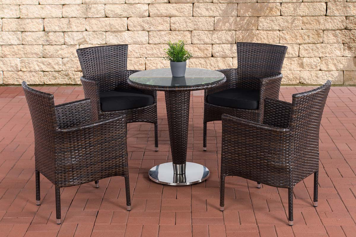 sitzgruppe inez xl gartengarnitur polyrattan alu gartenm bel set 4 personen ebay. Black Bedroom Furniture Sets. Home Design Ideas