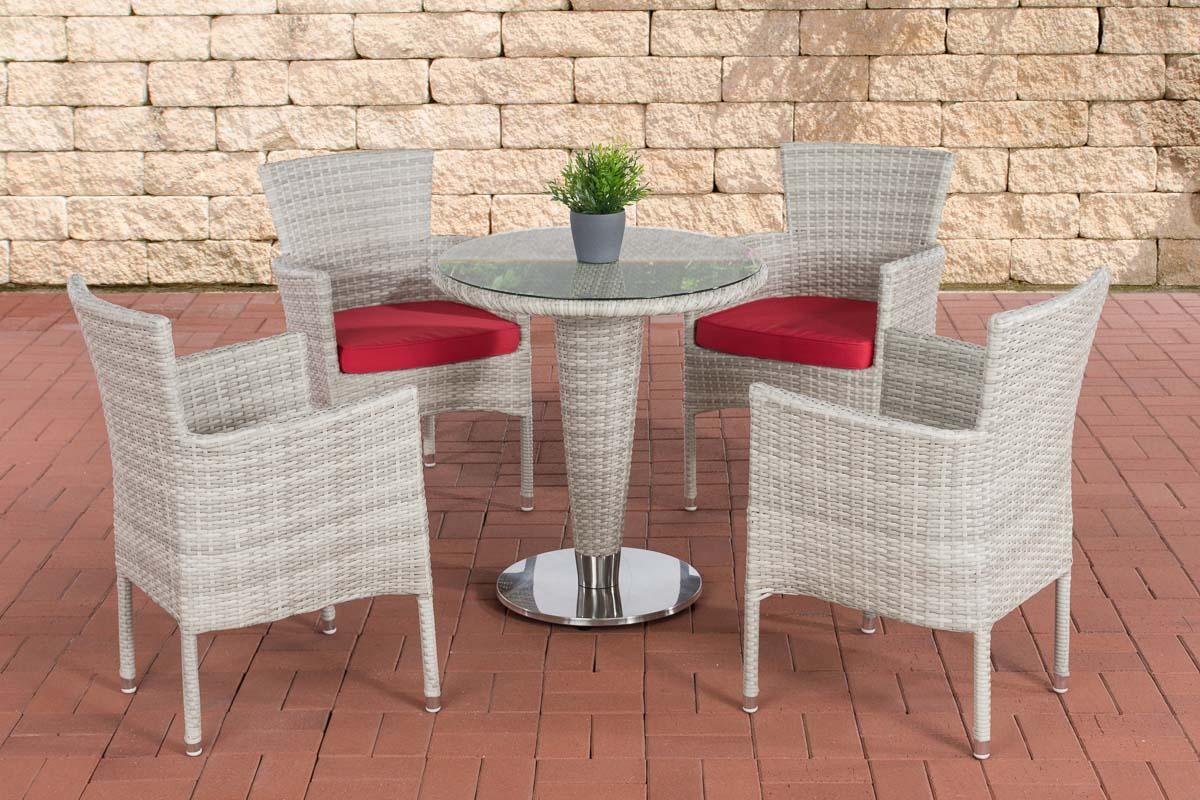 sitzgruppe inez xl gartengarnitur polyrattan alu gartenm bel set 4 personen ebay. Black Bedroom Furniture Sets. Home Design Ideas