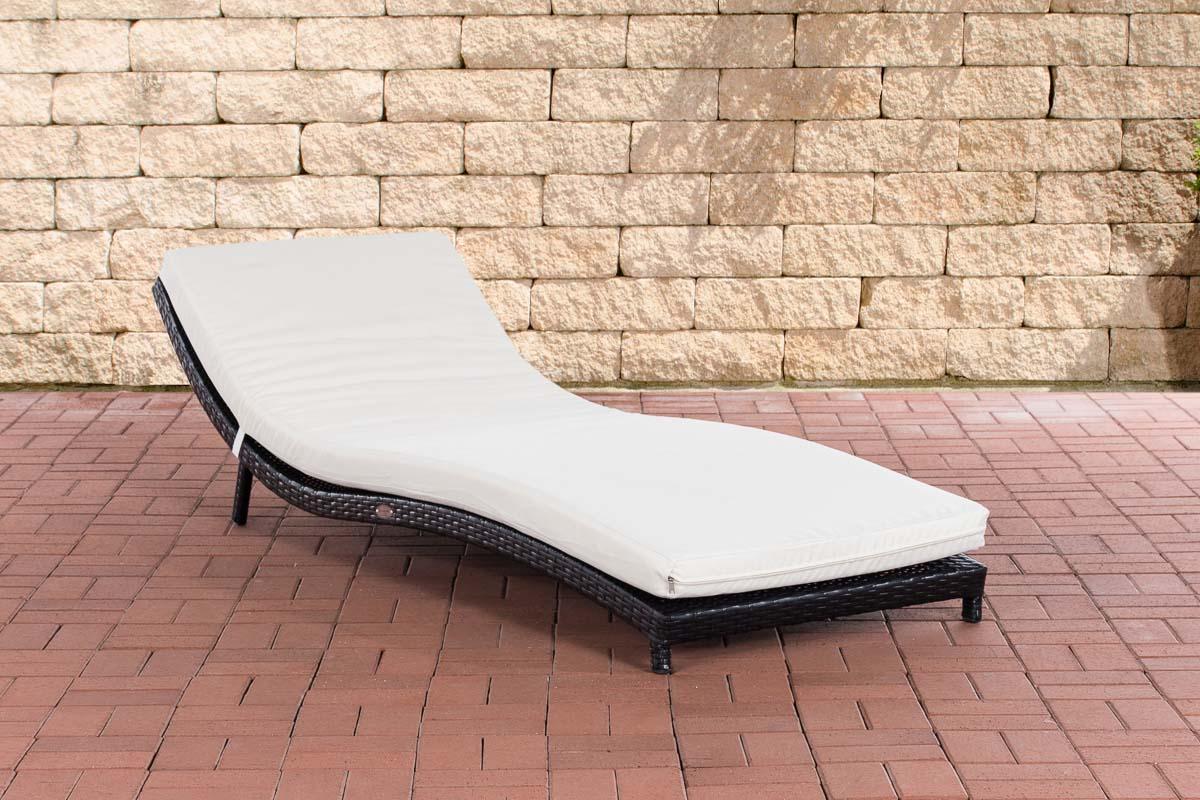 Sonnenliege pesaro gartenliege mit auflage liegestuhl ergonomische wellnessliege ebay - Gartenliege mit auflage ...
