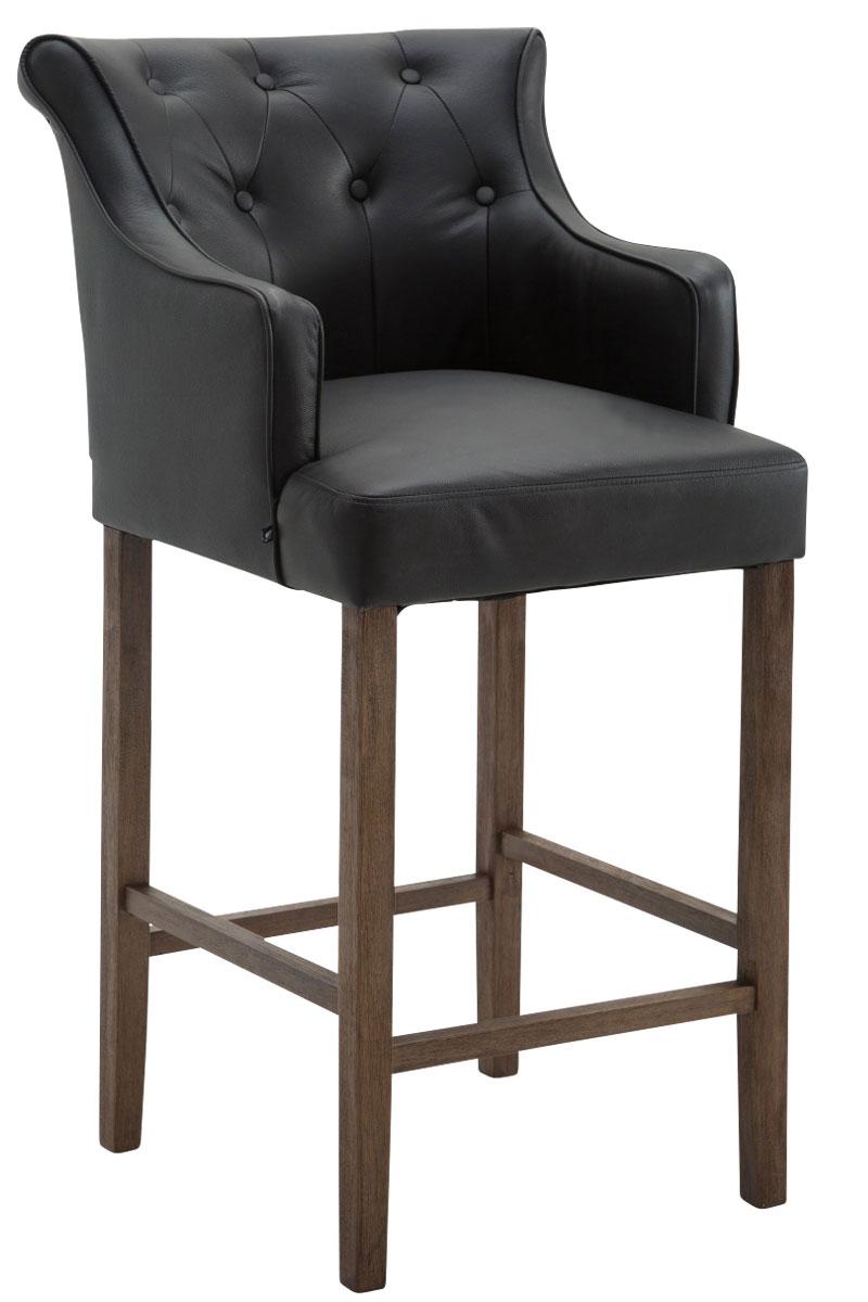 barhocker lykso echtleder mit lehne kautschuk holz gestell fu st tze barstuhl ebay. Black Bedroom Furniture Sets. Home Design Ideas