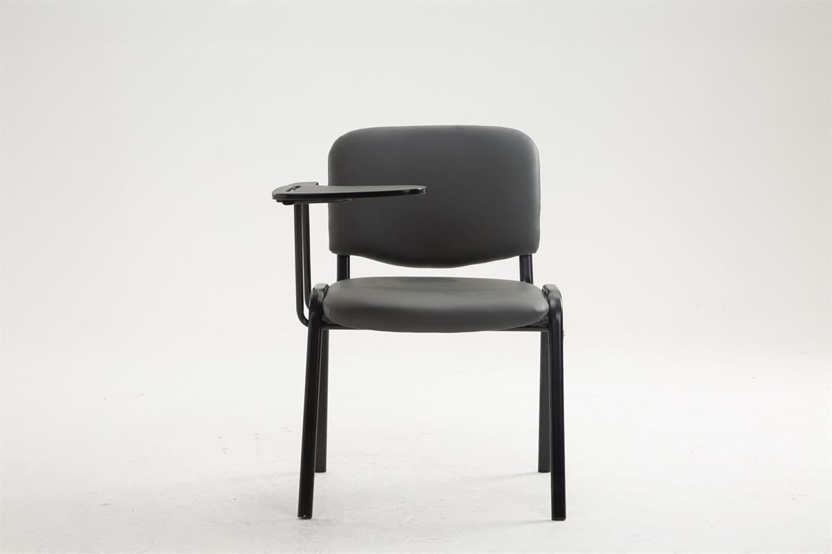 chaise visiteur ken avec tablette pliable similicuir conf rence r union fauteuil ebay. Black Bedroom Furniture Sets. Home Design Ideas