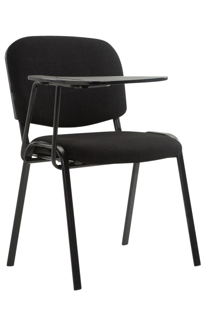 Bezoekersstoel-wachtkamerstoel-KEN-met-klaptafel-conferentie-vergaderstoel-Stof