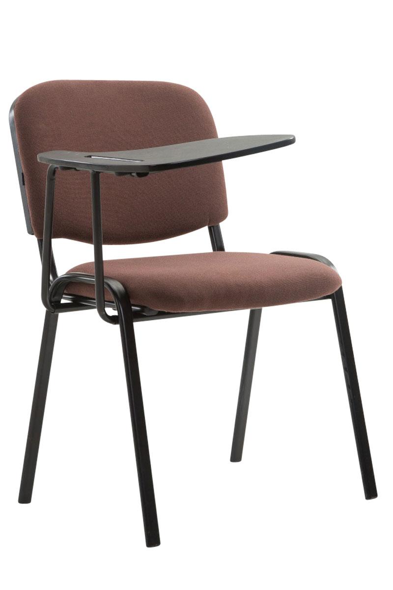 stuhl ken mit klapptisch stoff metall konferenzstuhl besucherstuhl mit tischchen ebay. Black Bedroom Furniture Sets. Home Design Ideas