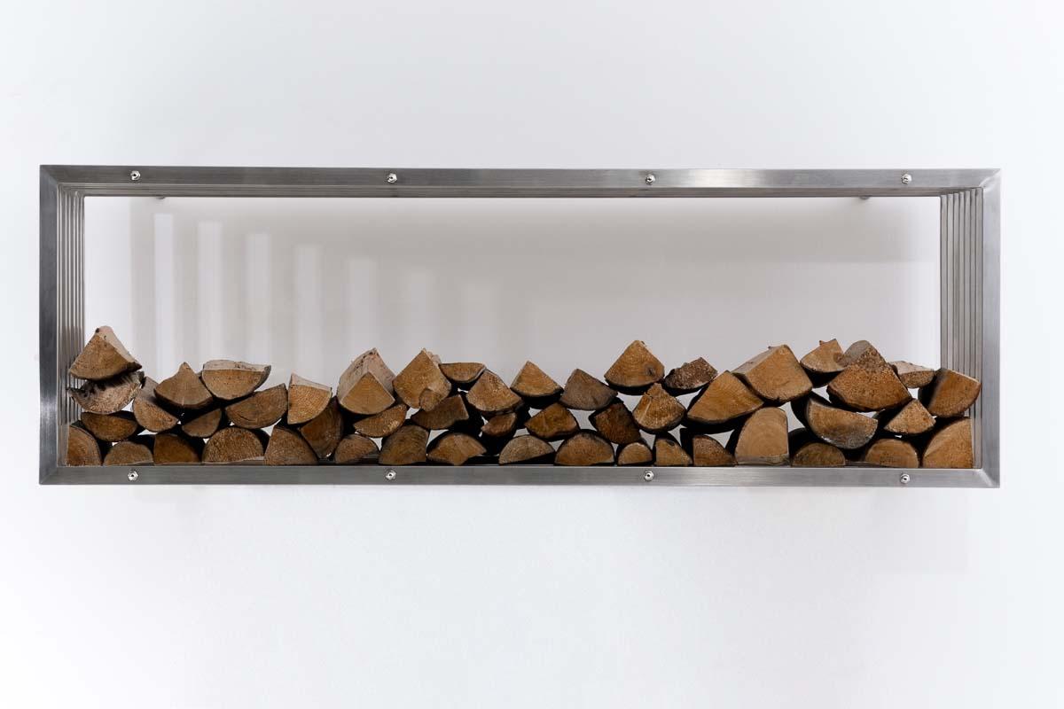 porte b che mural rangement bois chauffage irving m tal. Black Bedroom Furniture Sets. Home Design Ideas