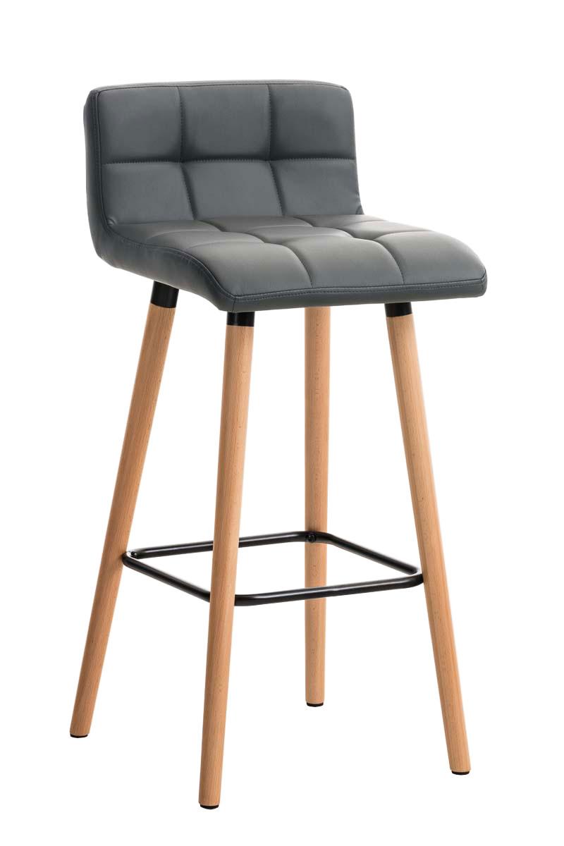 barhocker lincoln kunstleder mit lehne thekenhocker holz tresenstuhl barstuhl ebay. Black Bedroom Furniture Sets. Home Design Ideas