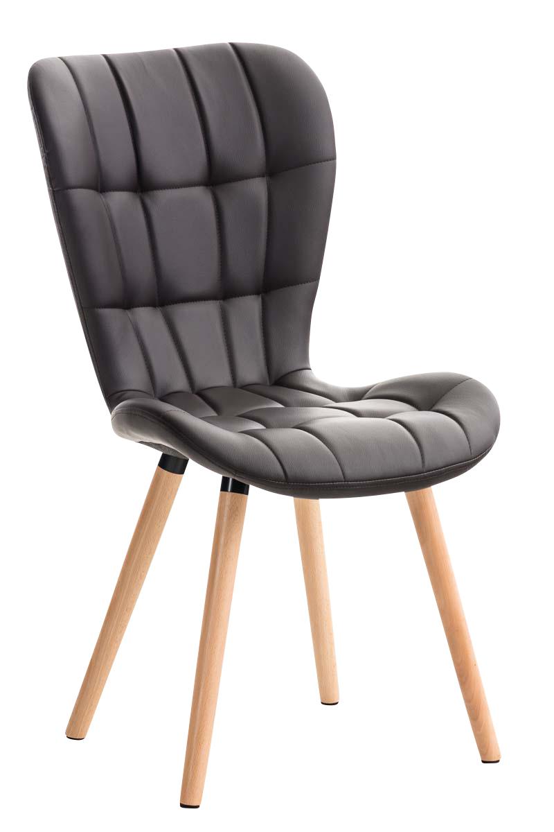 Chaise salle manger elda fauteuil similicuir bois for Chaise fauteuil scandinave