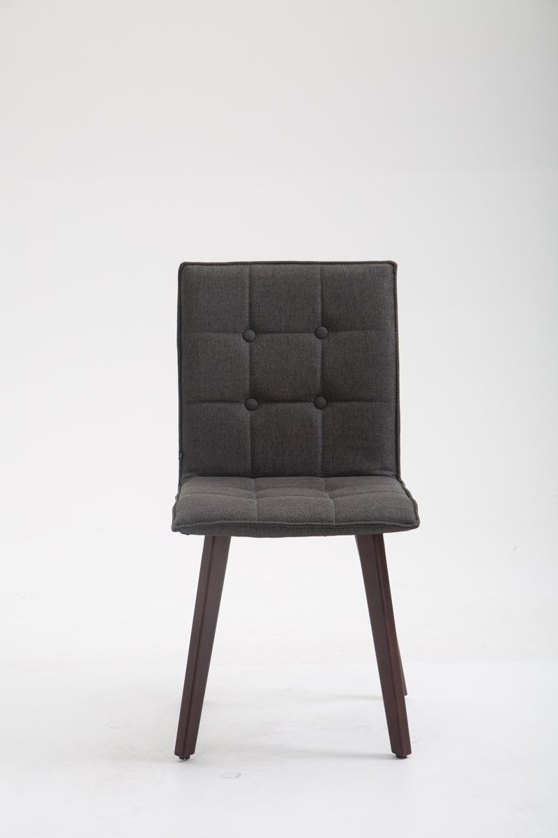 Détails sur Chaise de Salle à Manger MILLER Tissu Design Scandinave Chaise de Salon en Bois