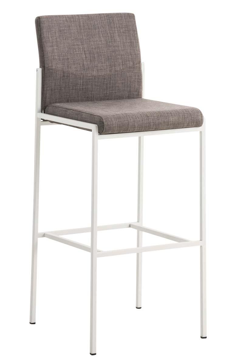 Barhocker torino w stoff stuhl hocker tresenstuhl barstuhl for Barhocker grau stoff