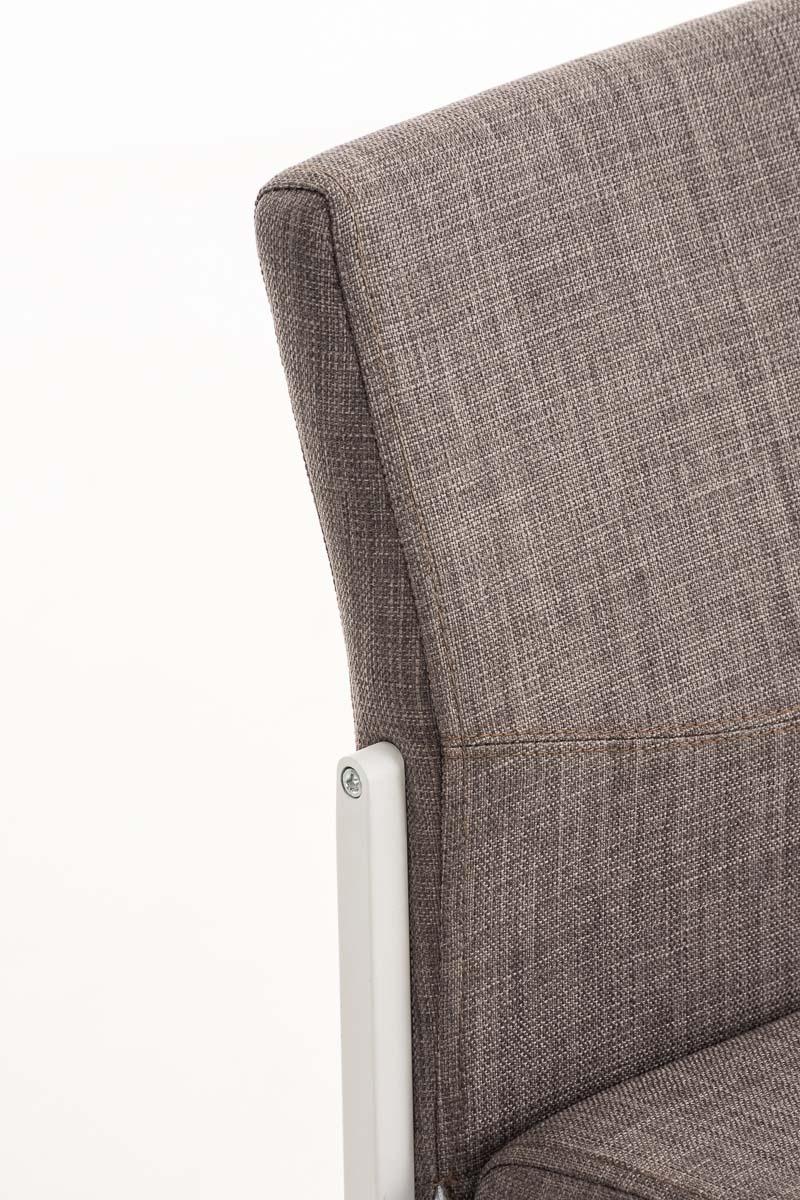 Barhocker torino w stoff stuhl hocker tresenstuhl barstuhl for Barstuhl grau