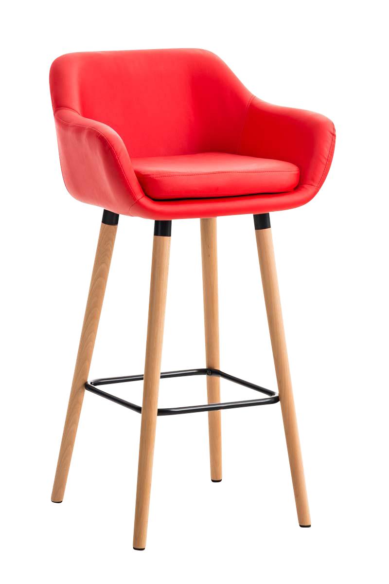 tabouret de bar design grant similicuir chaise haute de bar pieds en bois ebay