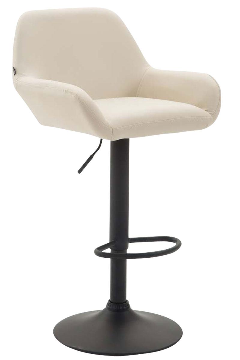 tabouret de bar braga similicuir accoudoirs pied trompette repose pied rembourr ebay. Black Bedroom Furniture Sets. Home Design Ideas