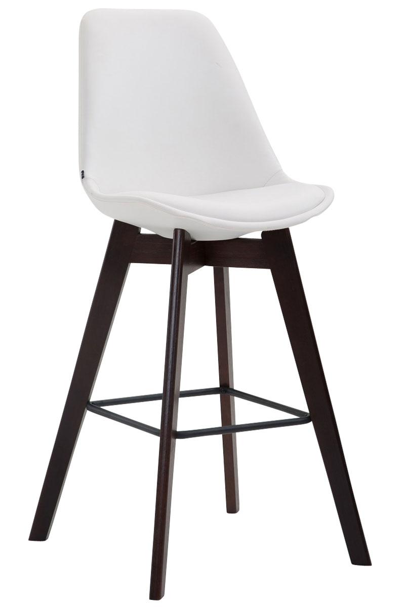 Tabouret de bar metz similicuir chaise bois cuisine repose - Chaises de bar pieds ...