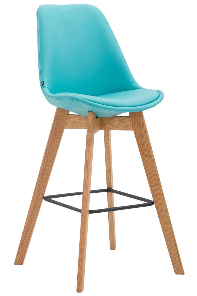 tabouret de bar metz similicuir chaise bois cuisine repose. Black Bedroom Furniture Sets. Home Design Ideas