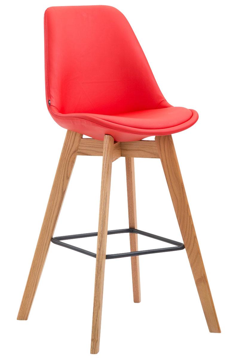 tabouret de bar metz similicuir chaise bois cuisine repose pied bistro comptoir ebay. Black Bedroom Furniture Sets. Home Design Ideas