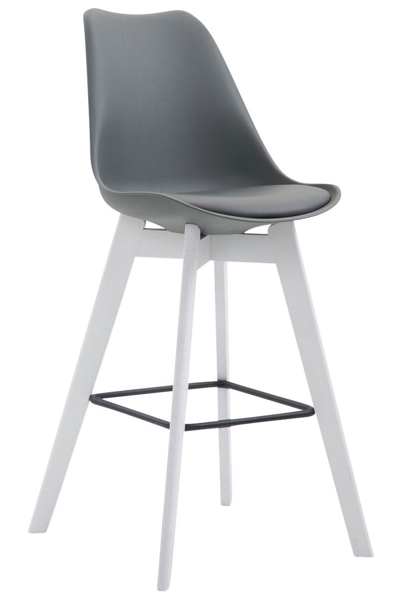 Tabouret bar metz chaise plastique similicuir bois cuisine for Chaise de cuisine plastique