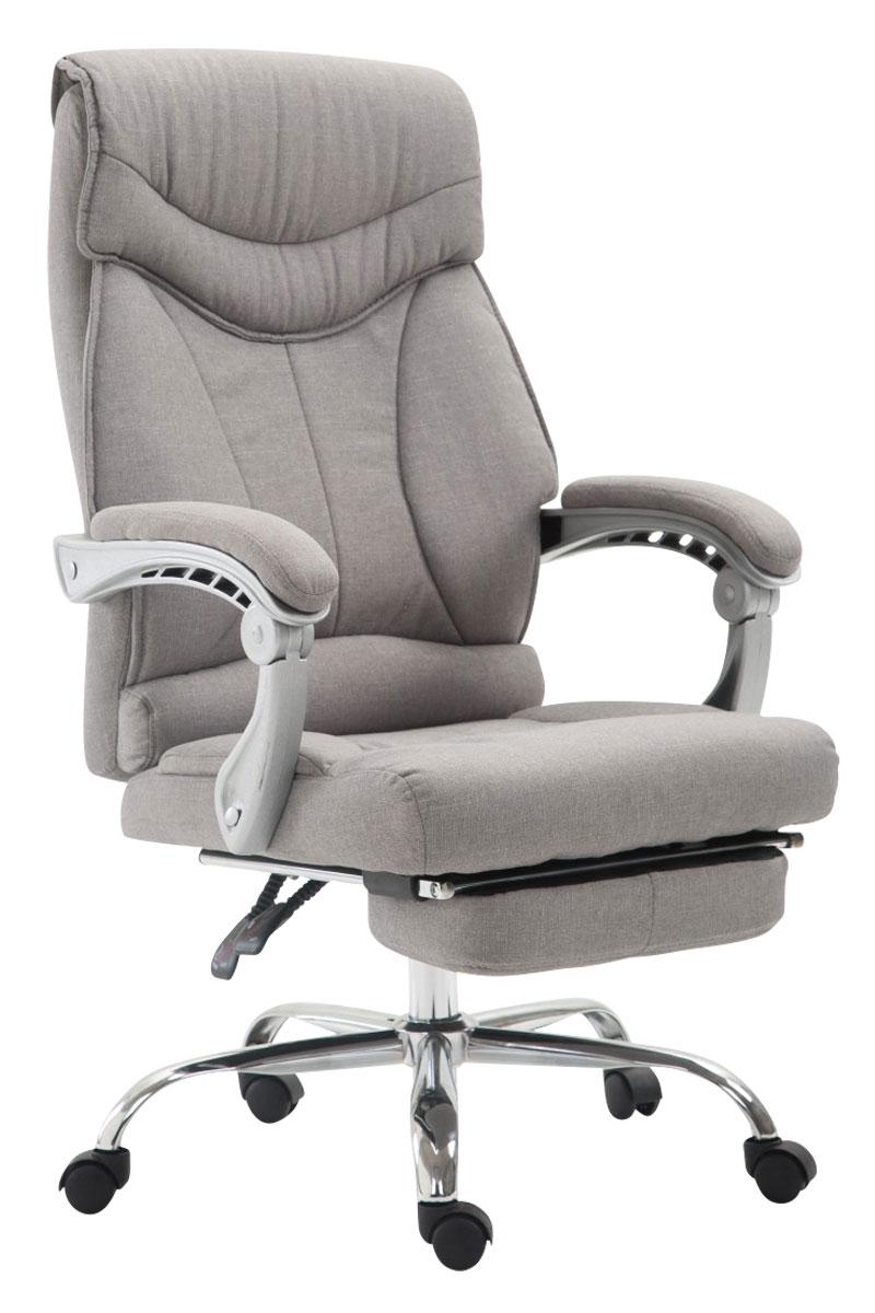 b rostuhl iowa stoff schreibtischstuhl mit fu ablage chefsessel drehstuhl sessel ebay. Black Bedroom Furniture Sets. Home Design Ideas