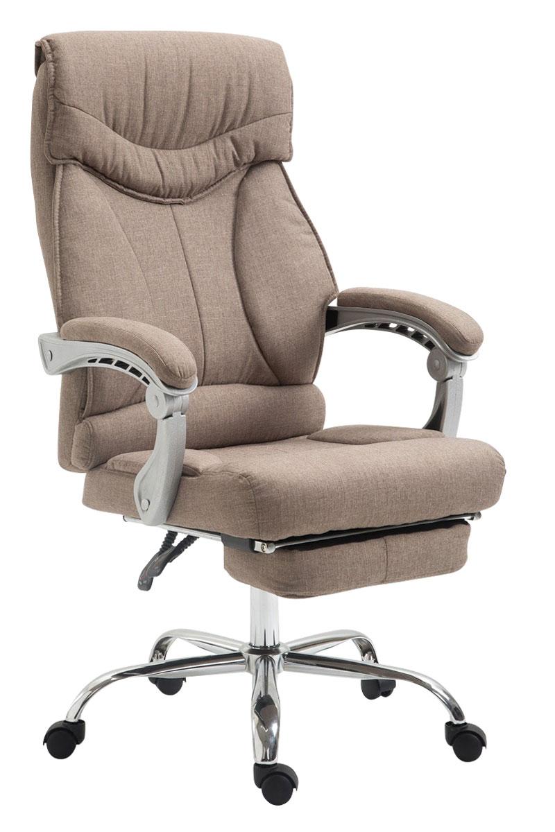 fauteuil de bureau big iowa tissu repose pied hauteur r glable accoudoir ebay. Black Bedroom Furniture Sets. Home Design Ideas