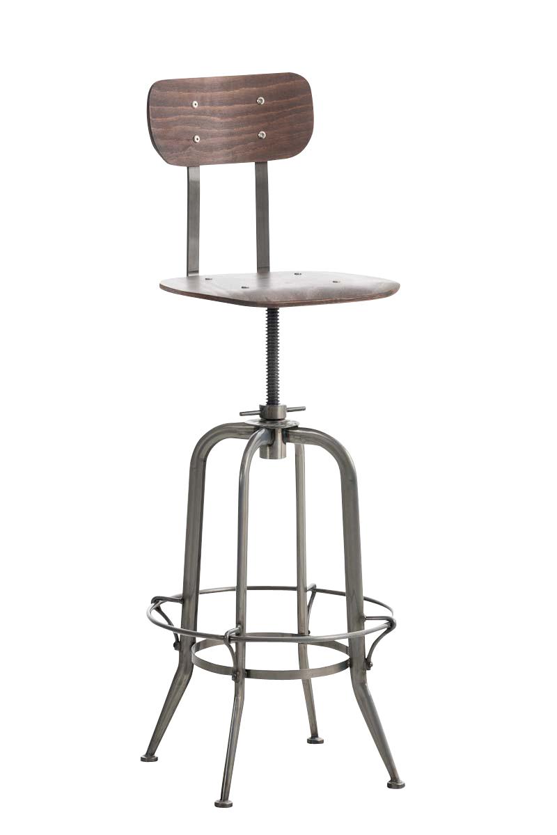 Tabouret bar mattes chaise industriel m tal repose pieds bois atelier loft neuf ebay - Chaise atelier industriel ...
