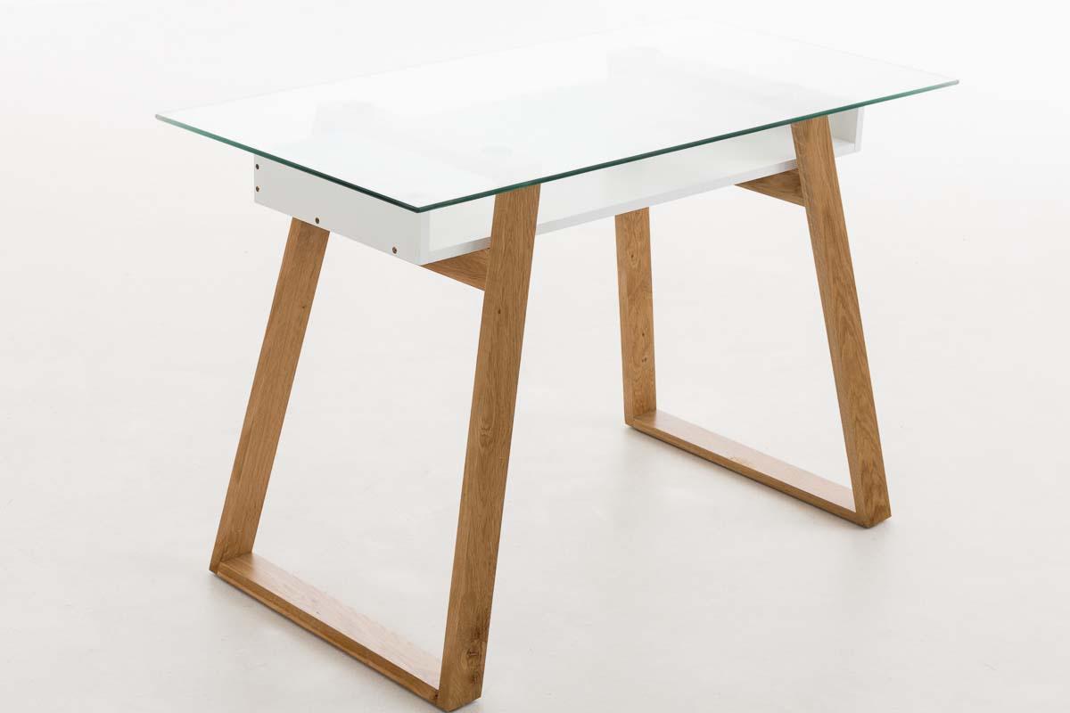 schreibtisch ryan 110 cm holz b rotisch computertisch glas eiche tisch sekret r ebay. Black Bedroom Furniture Sets. Home Design Ideas
