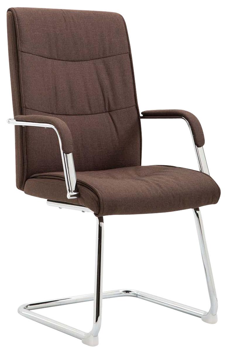 Besucherstuhl Caro V2 Stoff Praxis Wartezimmer Stuhl braun